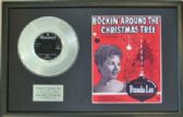 BRENDA LEE-PlatinumDisc&Song Sheet-ROCKIN' AROUND-